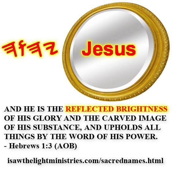 Jesus mirror image