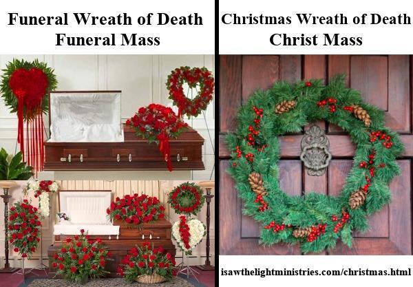 La corona navideña es igual que la corona funeraria de la muerte, no del nacimiento