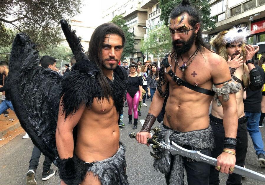 men dressed as Game of Thrones demons in Jerusalem