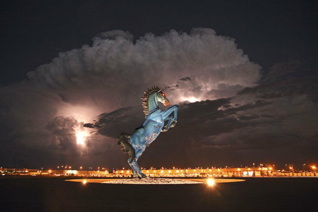 Denver airport satanic horse