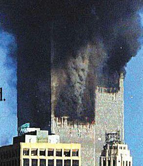 9/11 devil face in explosion