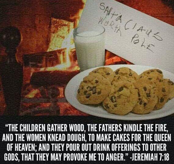 pagan offering to Santa