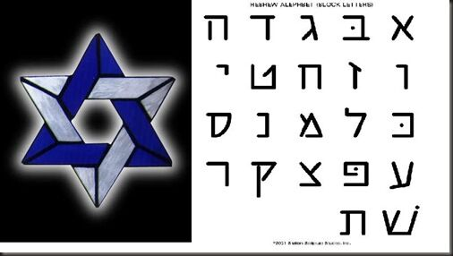 Star of David letters 1