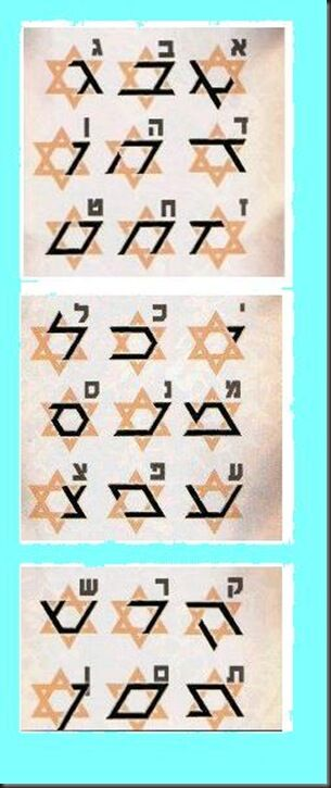 Star of David letters 2