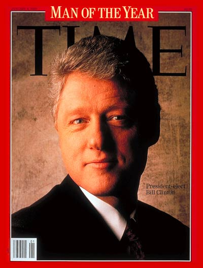 Bill Clinton Time Magazine devil horns