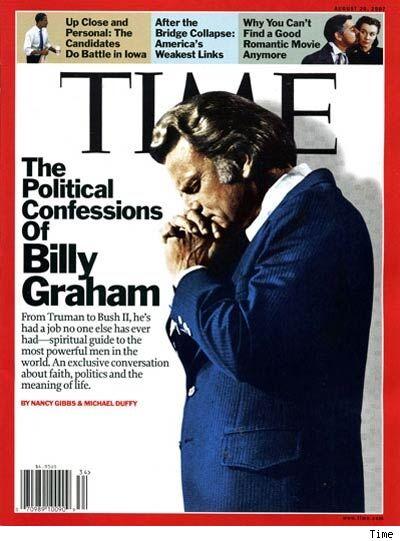 Billy Graham Time Magazine devil horns